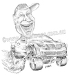 Cartoon: Bills Pontiac ute (small) by kullatoons tagged pontiac ute car caricature