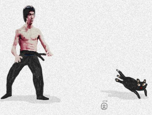 Cartoon: bruce lee (medium) by drljevicdarko tagged bruce,lee