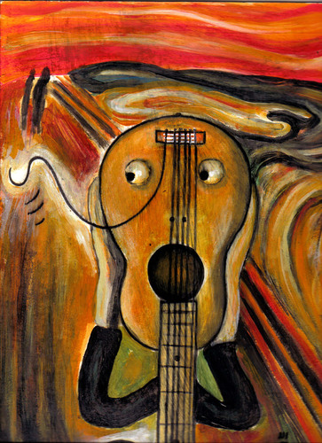 Cartoon: guitar scream (medium) by drljevicdarko tagged scream