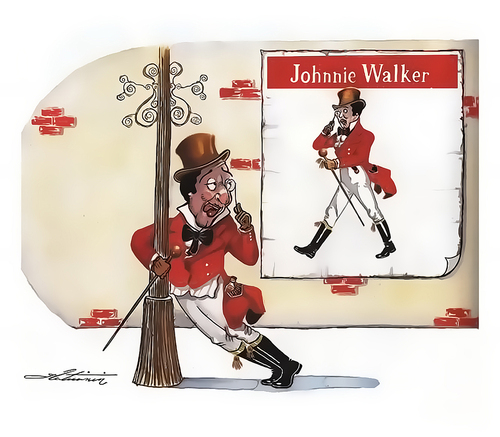 Cartoon: Johnnie WALKER? (medium) by zlaticanin tagged zlaticanin