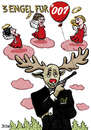 Cartoon: Drei Engel für 007 (small) by BiSch tagged engel,angel,elch,007,moose,weinachten,christmas,rentier,reindeer