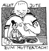 Cartoon: ein Blümchen zum Muttertag (small) by BiSch tagged mother,mutter,mama,muttertag,sohn,rührung