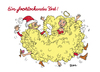 Cartoon: Ein frohlockendes Fest! (small) by BiSch tagged christmas,angel,santa,claus,hair,weihnachtsmann,weihnachten,locken,blond