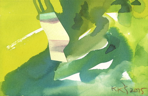 Cartoon: Abstract autumn. Triptych (medium) by Kestutis tagged postcard,kestutis,lithuania,abstract,autumn