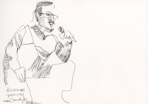 Cartoon: Artist Zilvinas Jonutis (medium) by Kestutis tagged sketch,art,kunst,kestutis,lithuania