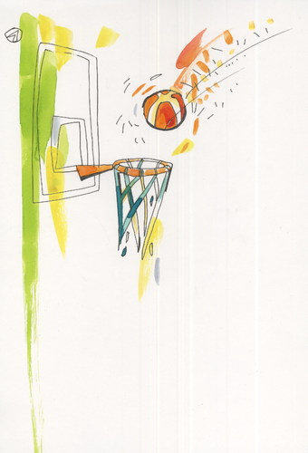 Cartoon: Basketball magic (medium) by Kestutis tagged basketball,magic,kestutis,lithuania,olympics,2016,sports,rio,brazil,games,summer