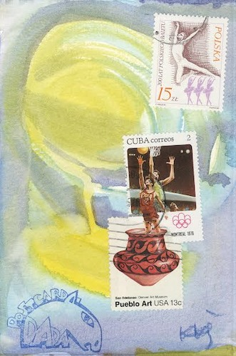 Cartoon: Basketball metamorphosis (medium) by Kestutis tagged basketball,sports,metamorphosis,dada,postcard,mail,art,kunst,kestutis,lithuania