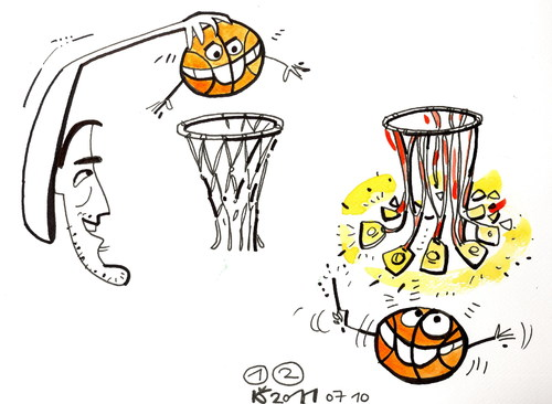Cartoon: BASKETBALL WORLD CHAMPIONS (medium) by Kestutis tagged kestutis,team,gold,champions,basketball,lithuania