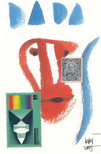 Cartoon: DADA (medium) by Kestutis tagged dada,art,kunst,postcard,dadaism,stamps,sketch,kestutis,lithuania