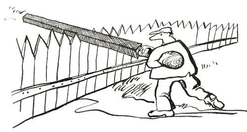 Fence Zaun Tvora By Kestutis Philosophy Cartoon Toonpool