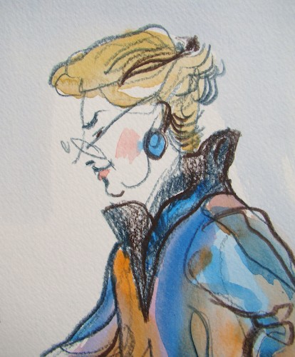 Cartoon: Filomena (medium) by Kestutis tagged sketch,watercolor,kestutis,lithuania,kunst,art
