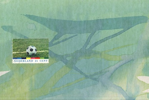 Cartoon: Football match. DADA Comic (medium) by Kestutis tagged football,match,dada,postcard,comic,soccer,mail,art,kunst,postage,stamps,socer,kestutis,lithuania,sports