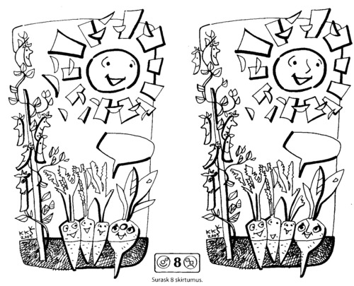 Cartoon: In the garden (medium) by Kestutis tagged kids,ecology,adventure,lithuania,kestutis,sun,garden,child,kind,education,kinder,children