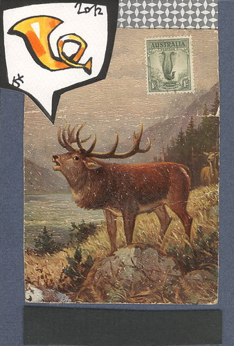 Cartoon: Postcard. Postal horn (medium) by Kestutis tagged post,postcard,horn,nature,kestutis,siaulytis,collage