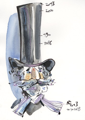 Cartoon: VERDI -  200 (medium) by Kestutis tagged itly,artist,composer,portrait,giuseppe,lithuania,kestutis,october,verdi