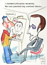 Cartoon: About humor (small) by Kestutis tagged humor,macron,cartoon,kestutis,lithuania