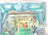 Cartoon: Artists Cafe in Druskininkai (small) by Kestutis tagged artist,kestutis,lithuania,watercolor,sketch