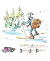 Cartoon: Basketball and Biathlon (small) by Kestutis tagged sport,basketball,winter,kestutis,lithuania