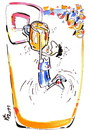 Cartoon: BASKETBALL PLAYERS DREAM (small) by Kestutis tagged basketball sport beer fans