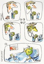 Cartoon: COCKTAIL WITH LEMON (small) by Kestutis tagged cocktail,lemon,friday,saturday,kestutis,lithuania,strip,comic,evening,party,night,morning