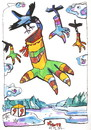 Cartoon: Crows flying to Santa Claus (small) by Kestutis tagged crows santa claus christmas weihnachten kestutis lithuania adventure clouds winter