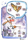 Cartoon: HOPE - CAUSE - TIME (small) by Kestutis tagged ice fishing winter zeit hoffnung kestutis bubble hope cause time dream snow fish angler ursache
