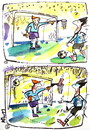 Cartoon: HUMOR HYPNOSIS (small) by Kestutis tagged football basketball humor hypnosis fußball soccer ngoalkeeper sports fans