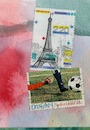 Cartoon: International football match (small) by Kestutis tagged football postcard dada kestutis soccer lithuania paris