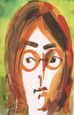Cartoon: John Lennon (small) by Kestutis tagged postcard,john,lennon,england,beatles,music,kestutis,lithuania