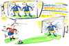Cartoon: MAGIC OF NUMBER (small) by Kestutis tagged magic number football fußball sport numerology 2012 fussball euro soccer fans goalkeeper