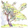 Cartoon: Montmartre apple tree (small) by Kestutis tagged montmartre,apple,tree,kestutis,siaulytis,lithuania,stairs,treppe,baum