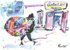 Cartoon: MUSEUM THEFT (small) by Kestutis tagged gobelin,museum,theft,dieb,hook,stealing,thief,kunst,art,nacht,night