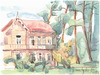Cartoon: Old wooden villa (small) by Kestutis tagged watercolor,sketch,kestutis,lithuania,summer