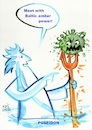 Cartoon: Poseidon against covid (small) by Kestutis tagged poseidon,covid,virus,pandemic,amber,baltic,sea,kestutis,lithuania