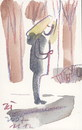 Cartoon: Postcard.Observations (small) by Kestutis tagged observations,postcard,post,sketch