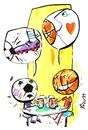 Cartoon: REMINISCENCES (small) by Kestutis tagged reminiscences football basetball fußball soccer sport beer