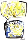 Cartoon: RESEARCHERS NIGHT (small) by Kestutis tagged researchers,night,nacht,wissenschaft,enlightenment,education