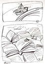 Cartoon: SHIP AND THE SEA (small) by Kestutis tagged ship,sea,newspapers,books