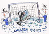 Cartoon: SUCCESS. CHELSEA 2012 (small) by Kestutis tagged soccer football success fußball fussball goal cup fish chelsea bayern champions league munich penalty uefa final sport