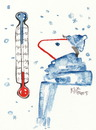 Cartoon: Thermometer (small) by Kestutis tagged thermometer,winter,kestutis,lithuania