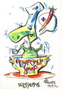 Cartoon: TURTLE SOUP (small) by Kestutis tagged turtle,soup,kestutis,siaulytis,lithuania,chef,pirate,food,comic,strip