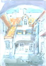 Cartoon: Vilnius. Lithuania (small) by Kestutis tagged vilnius,lithuania,watercolor,summer,kestutis