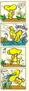 Cartoon: Water! (small) by Kestutis tagged water mushroom forest wald chanterelle strip comic kinder education children kids child kind thank pfifferlinge flower kestutis lithuania adventure