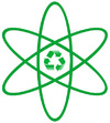 Cartoon: - atom - (small) by Zoran tagged atom,recycling,ecology