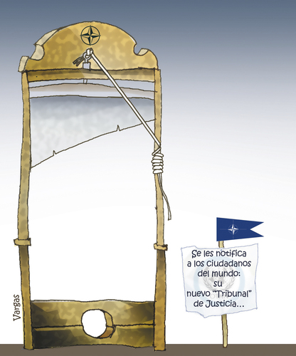 Cartoon: TRIBUNAL DE JUSTICIA MUNDIAL (medium) by OTORONGO tagged politica