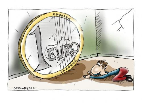 Euro By Dimoulis Business Cartoon Toonpool