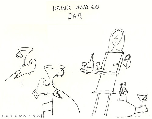 Cartoon: a million dollar idea (medium) by ouzounian tagged drinking,bars,funnels