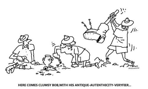 Cartoon: archeology and stuff (medium) by ouzounian tagged archeology,accidents