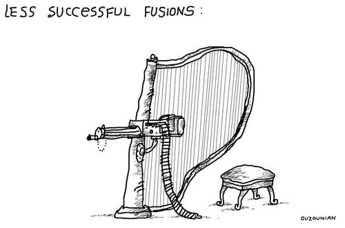 Cartoon: combos and stuff (medium) by ouzounian tagged guns,harps,combinations