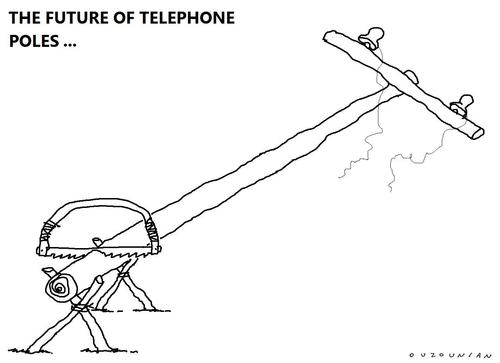 Cartoon: communication and stuff (medium) by ouzounian tagged communication,telephones,cellphones,progress